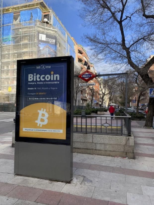 Publicidad Bitcoin